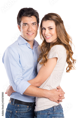 Portrait Of Young Couple Hugging