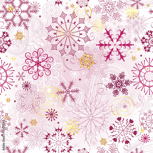 Christmas pink seamless pattern