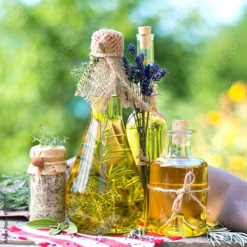 Keuken foto achterwand Kruiderij Kräuteröl