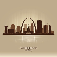 Saint Louis Missouri city skyline silhouette
