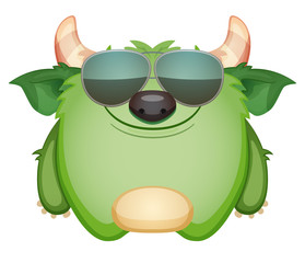 Green Monster in Sunglasses
