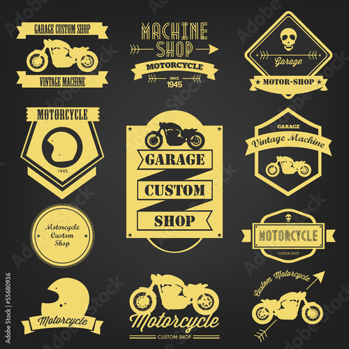 Premium Motorcycle Vintage Label