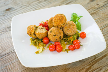 Polpette fritte, cucina italiana