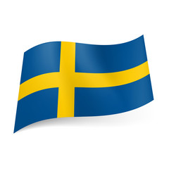 State flag of Sweden.