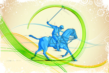 Polo Horse Player