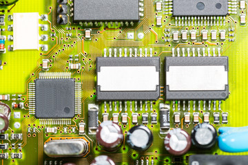 Macro photo of electronic circuit