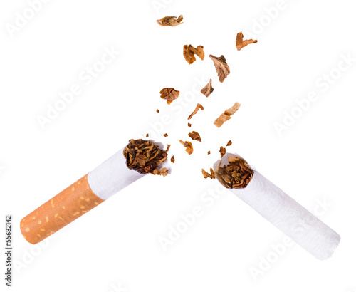 Breaking cigarette, quit smoking