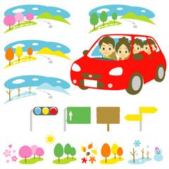 家族 ドライブ 行楽