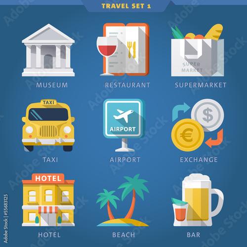 Travel icon set 1