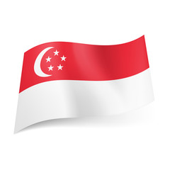 State flag of Singapore.
