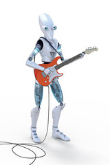 Robot Playing Guitar