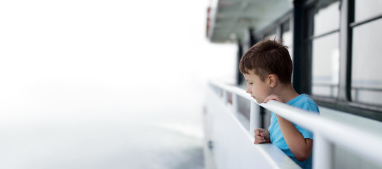 Little boy on cruise ship