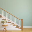 canvas print picture - Stairway in the modern house.