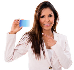 Business woman with a credit card