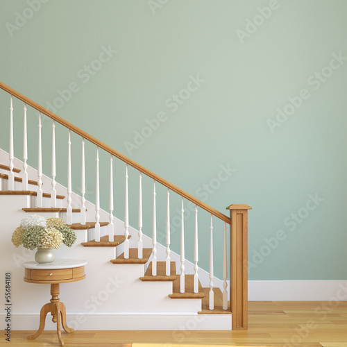 canvas print picture Stairway in the modern house.