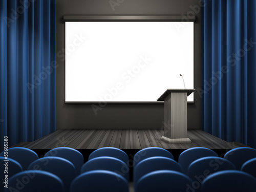 empty lecture room template
