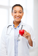 african doctor with heart