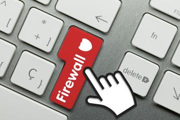 firewall keyboard hand