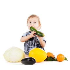 toddler eating squash