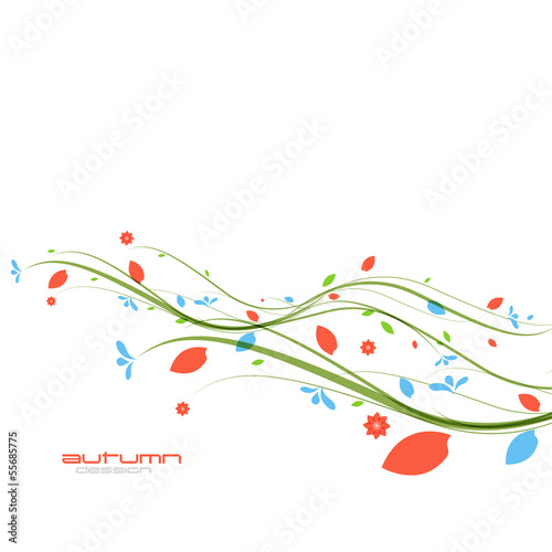 Autumn leaves nature template