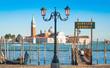 Gondola on Canal Grande with San Giorgio Maggiore, Venice