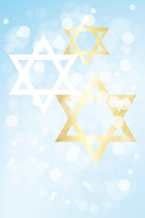 Hanukkah card with copy space