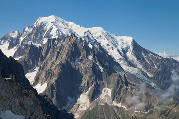 Mont Blanc massif from Grands Montets