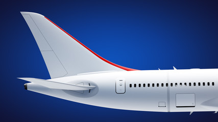 Airplane tail section