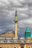 HDR: Tomb of Mevlana, the founder of Mevlevi sufi dervish order poster