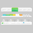 Website template infographic navigation elements with icons