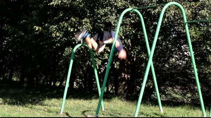Boy engaged in athletic exercises episode 6