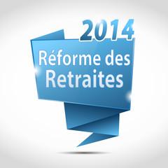 bulle origami :réforme des retraites 2014
