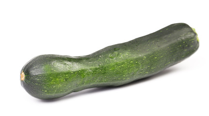 Single Courgette isolated on white.