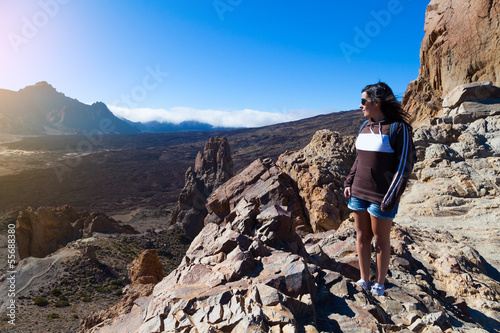 Woman Hiker in Teide National Park, Tenerife