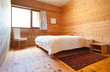 interior new chalet, view of the bedroom