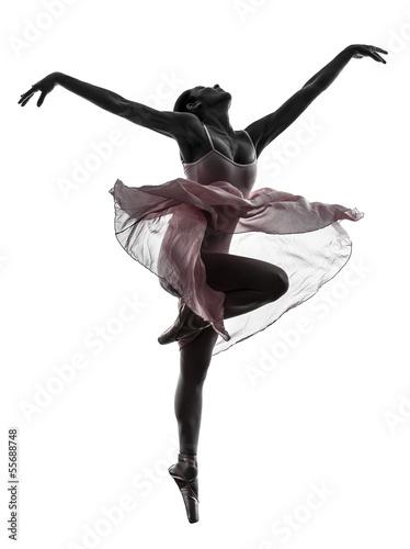 woman  ballerina ballet dancer dancing silhouette - 55688748