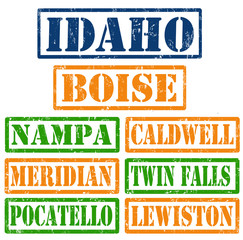 Idaho Cities stamps