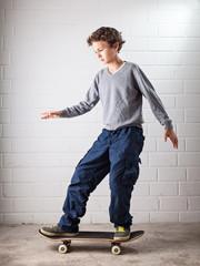 Cool Boy on his skateboard