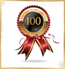 100 years anniversary label