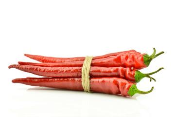 Czerwona papryka na białym tle