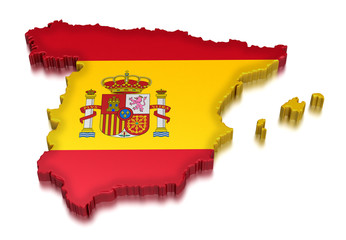 Spain  (clipping path included)