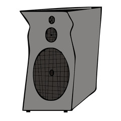 speaker column vector drawing