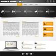 Vector Web Site Design, Template.