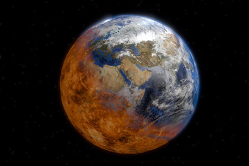 La fin du monde planète terre en 3D