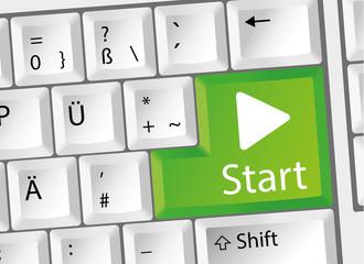 Start - Play - Startknopf - Tastatur deutsch