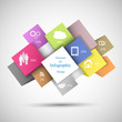 Colorful Infographic Cubes for any data presentation