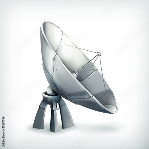 Parabolic antenna, icon