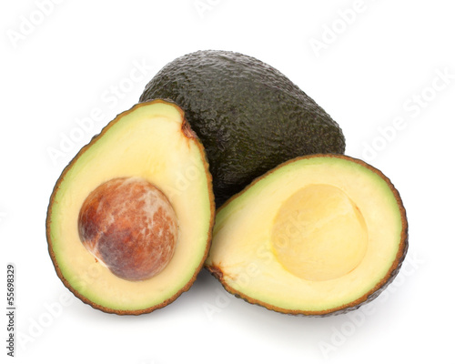 Avocado vegetable isolated on white background