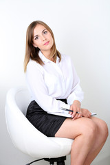 Portrait of successful psychologist or businesswoman