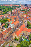 Aerial view of Zagreb, Ilica